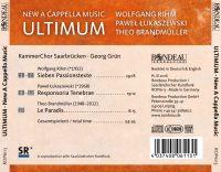 Ultimum New A Cappella Music