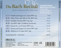 Das Bach Recital 1736  Bach in Dresden