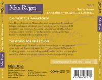 Max Reger:  Das Werk für Männerchor Vol. 2