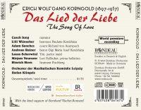 Erich Wolfgang Korngold:  Das Lied der Liebe