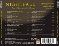 Nightfall   Sacred Romantic Part Songs