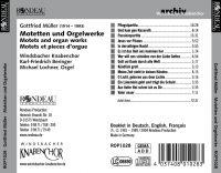 Gottfried Müller:  Motetten und Orgelwerke