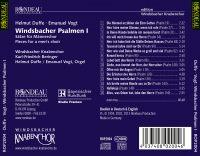 Helmut Duffe und Emanuel Vogt:  Windsbacher Psalmen I