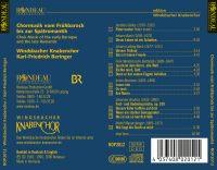 Chormusik vom Frühbarock  bis zur Spätromantik