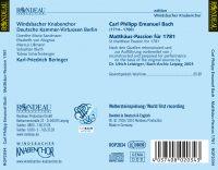 Carl Philipp Emanuel Bach:  Matthäus-Passion 1781