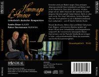 Hommage d''Amour:  Briefe deutscher Komponisten
